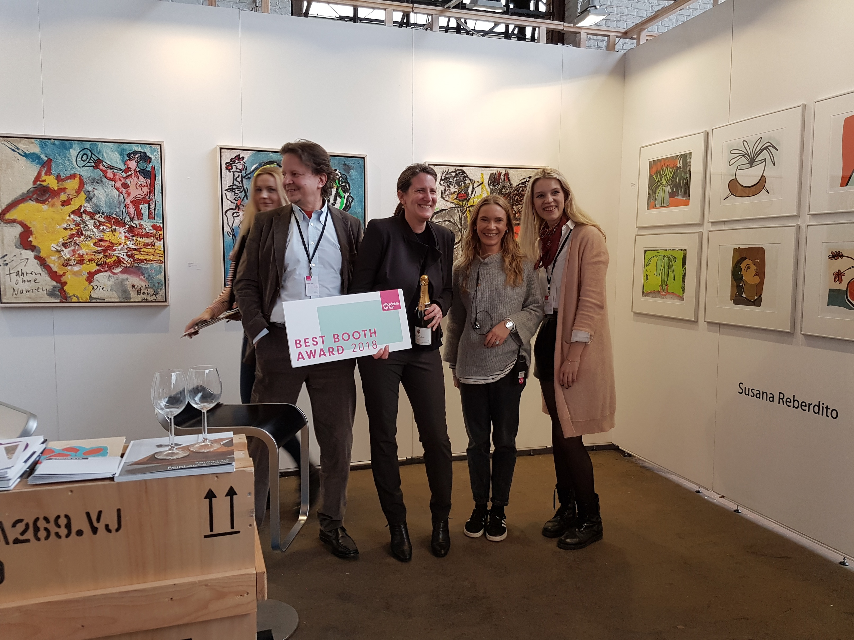Bester Stand auf der Affordable Art Brussels 2018