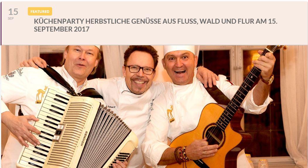 Keil bei Sternekoch Martin Scharff auf dem Heidelberger Schloss